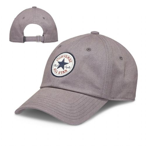 CONVERSE MENS BASEBALL CAP.NEW TIP OFF GREY COTTON STRAPBACK ADJUSTABLE HAT 74